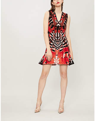 Alexander McQueen Butterfly jacquard mini dress