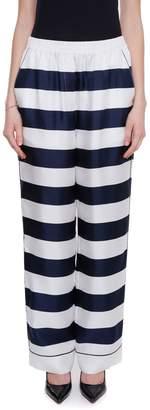 Dolce & Gabbana Striped Silk Trousers
