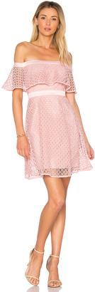 Bardot Off Shoulder Lace Dress $129 thestylecure.com