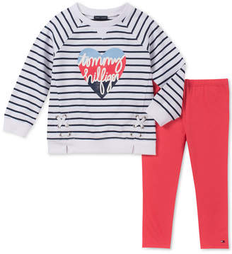 Tommy Hilfiger Toddler Girls 2-Pc. Lace-Up Logo Tunic & Leggings Set