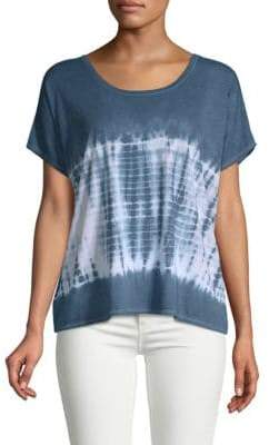 Chaser Deep Back Scoop Tie-Dyed Tee