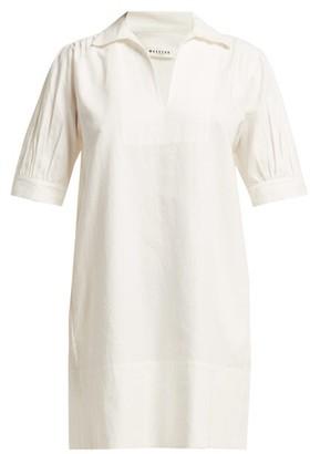 Masscob Coco Linen Blend Mini Dress - Womens - White