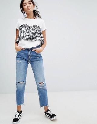 Bershka Gingham T-Shirt $28 thestylecure.com