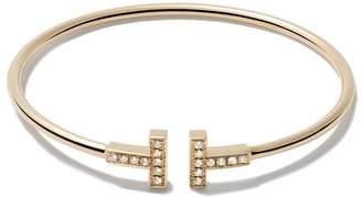 Tiffany & Co. & Co 18kt yellow gold T wire diamond cuff
