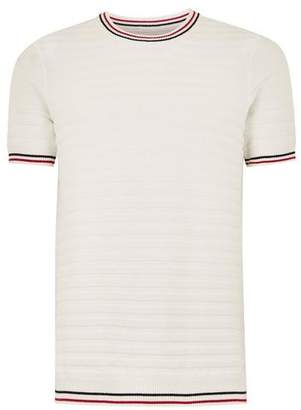 Topman Mens White Wide Ribbed Sweater