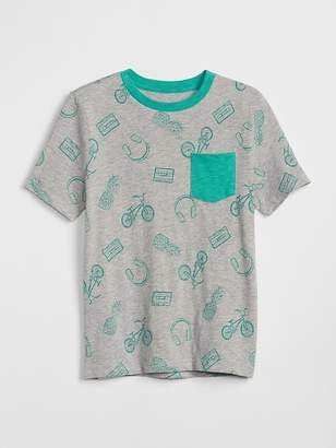 Gap Print Pocket T-Shirt
