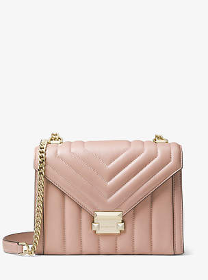 840a7e96a81b at Michael Kors · Michael Kors Whitney Large Quilted Leather Convertible Shoulder  Bag