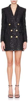 Balmain Double Breasted Sequin Blazer Dress