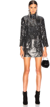 Rixo Bardot Dress in Line Sequin | FWRD