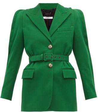 Givenchy Belted Technical Wool Blazer - Womens - Green