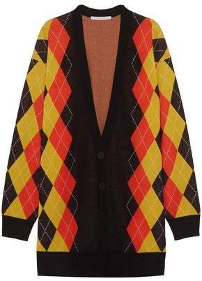 Stella McCartney Oversized Argyle Wool Cardigan