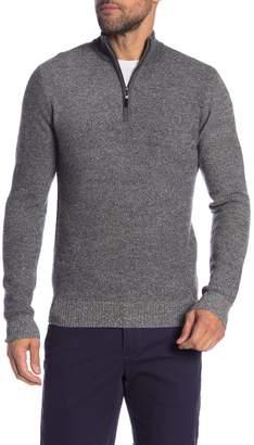 Qi Birdseye Stitch Quarter Zip Sweater