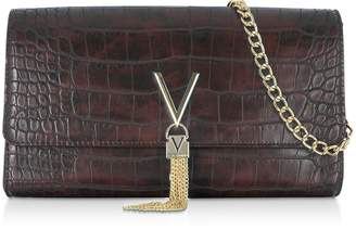 Mario Valentino Valentino By Audrey Croco Embossed Eco Leather Clutch