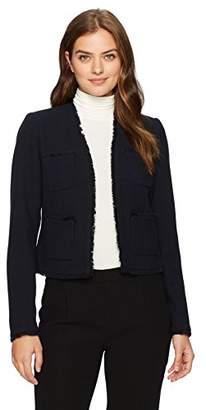 Ellen Tracy Women's Fringe Trimmed Jacket