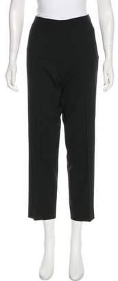 DKNY Mid-Rise Straight-Leg Wool Pants