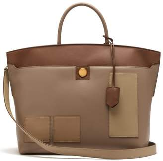54943fa05d53 Burberry Society Panelled Leather Tote Bag - Womens - Beige Multi