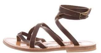 K Jacques St Tropez Ankle Strap Sandals