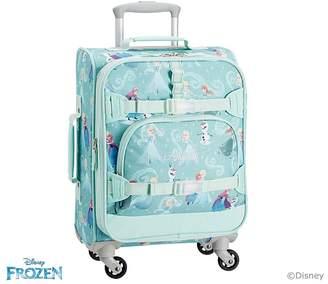 Pottery Barn Kids Mackenzie Aqua Disney Frozen Hard Sided Luggage
