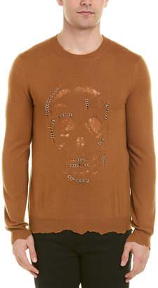 Alexander McQueen Punk Skull Crewneck Wool & Cashmere-Blend Sweater