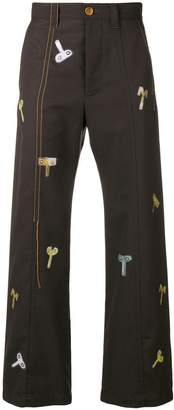 Marni Winding Key printed trousers