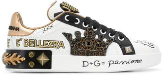 Dolce & Gabbana Portofino crown sneakers