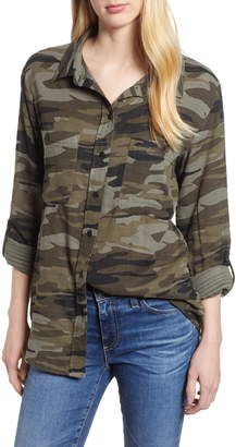 Sanctuary Steady Boyfriend Camo Shirt
