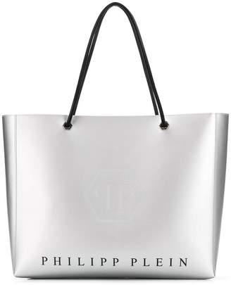 Philipp Plein metallic tote bag