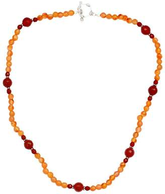 Novica Artisan Crafted Sterling Carnelian Necklace