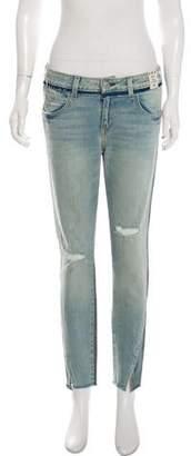Amo Mid-Rise Twist Two Tone Rise & Shine Jeans