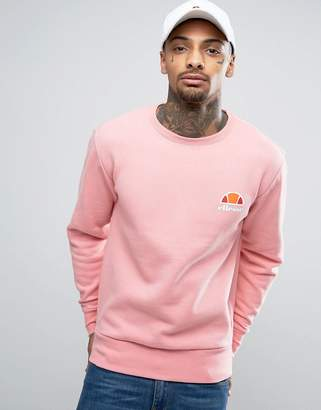Ellesse Sweatshirt With Small Logo In Pink