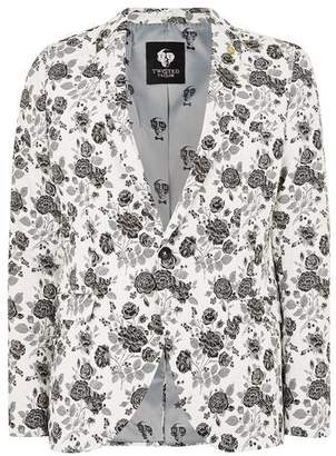 Topman Mens TWISTED TAILOR White Floral 'Picchu' Blazer