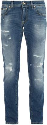 Dolce & Gabbana Gold fit distressed denim jeans