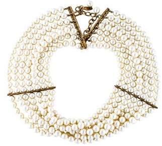 Chanel Faux Pearl Multistrand Choker
