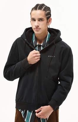 Obey Dillinger Hooded Sherpa Jacket