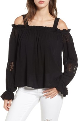 Women's Band Of Gypsies Cold Shoulder Top $69 thestylecure.com