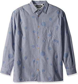 French Connection Men's Long Sleeve Bubble Button Down Shirt