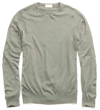 John Smedley Sweaters Hatfield Cotton Crewneck Sweater in Green