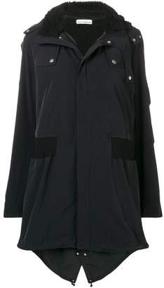 Paco Rabanne hooded parka coat