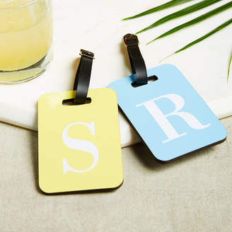 coconutgrass Alphabet Initial Luggage Tag Airport Tag