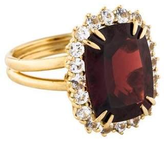Dolce & Gabbana 18K Garnet & Sapphire Cocktail Ring