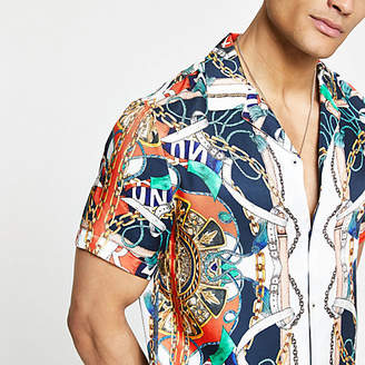 River Island White short sleeve baroque shirt