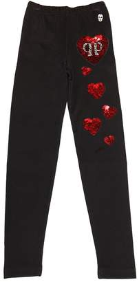 Heart Sequin Jersey Leggings