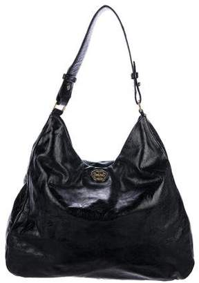 Tory Burch Leather Logo Hobo