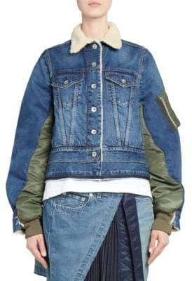 Sacai Denim Combo Bomber Jacket