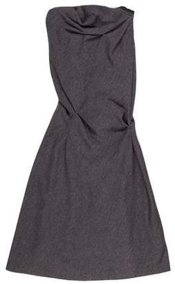 Louis Vuitton Wool Strapless Dress