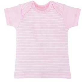 Under the Nile Baby Organic Cotton Short Sleeve Stripe Lap Shoulder T-Shirt