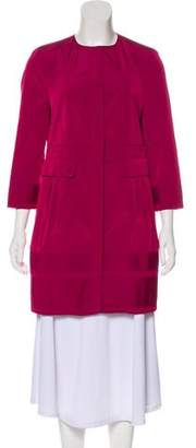 Burberry Knee-Length Button-Up Coat