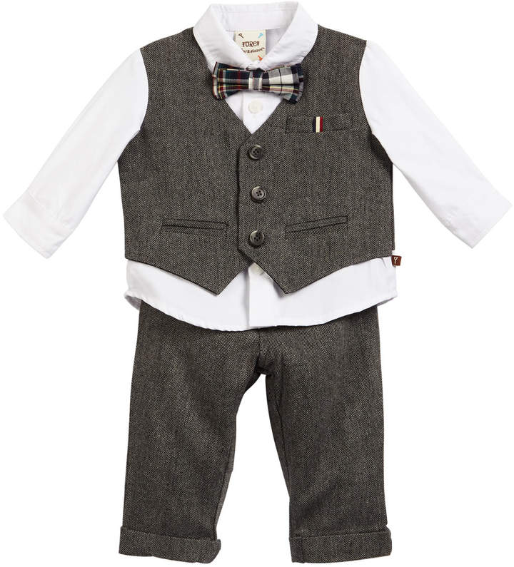 Fore Herringbone Outfit Set, Size 6-24 Months