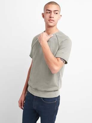 Short Sleeve Crewneck Sweatshirt in French Terry