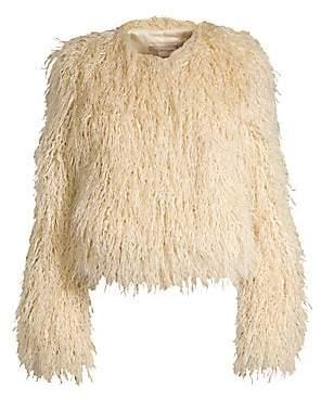 Michael Kors Women's Chubby Faux-Fur Coat